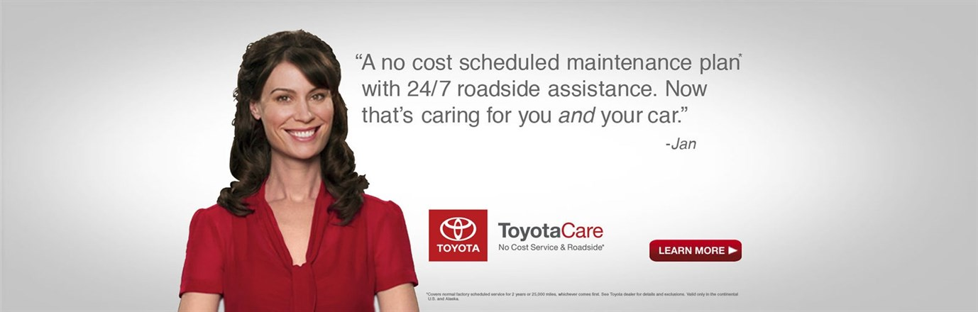 ToyotaCare. Toyota. Let's Go Places.